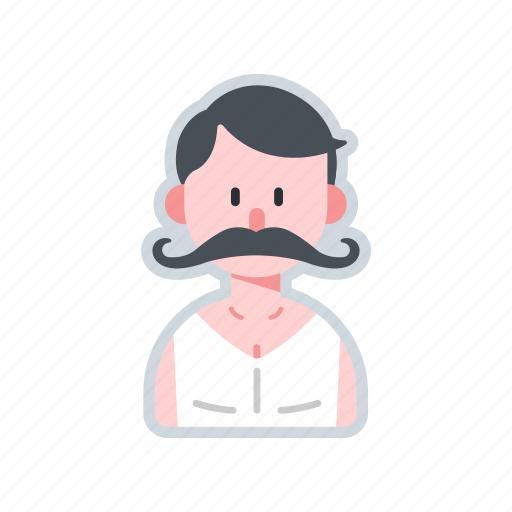 avatar, character, macho, moustache, muscular icon