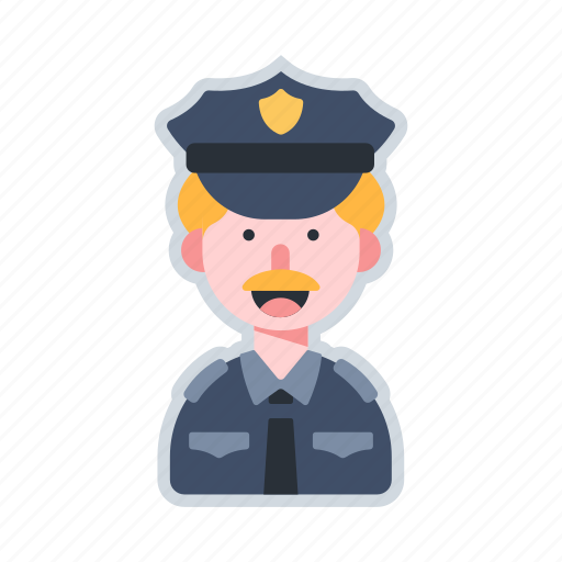 avatar, character, officer, police, security icon
