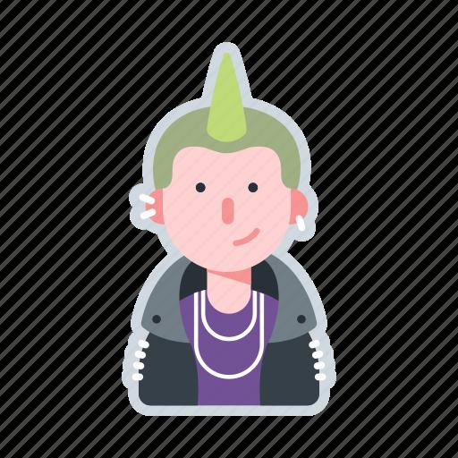 avatar, character, mohawk, punk, rock icon