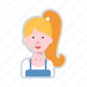 avatar, character, female, seller, shop, vendor icon