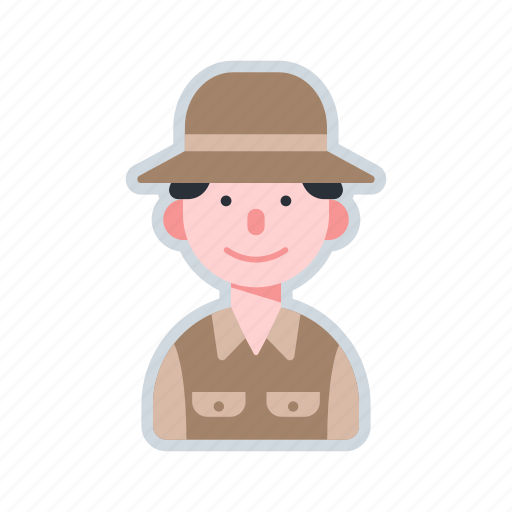 archaeologist, avatar, character, excavation, explorer icon