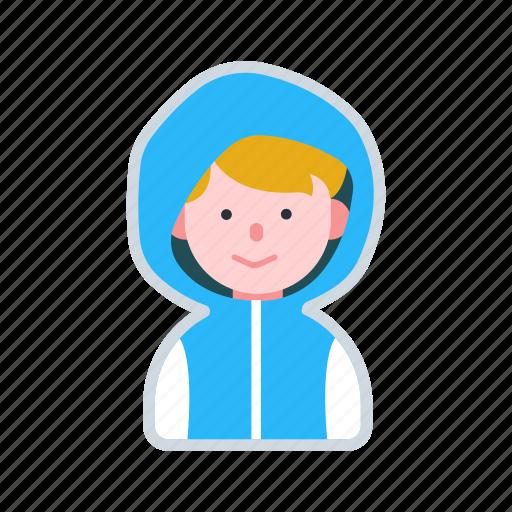 avatar, boy, character, hood, kid icon