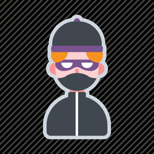 avatar, burglar, character, crime, thief icon