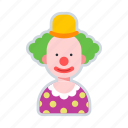 avatar, character, circus, clown, funny icon