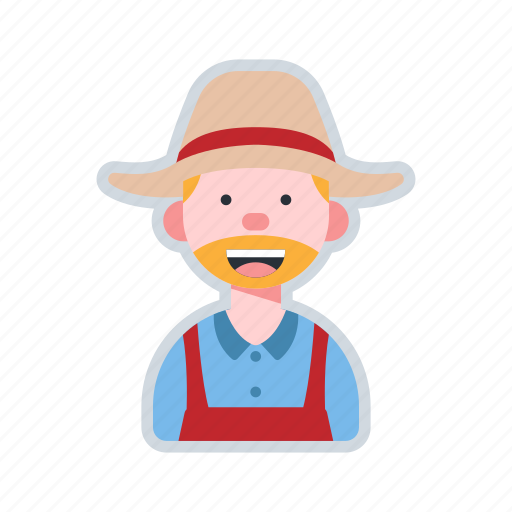 agriculture, avatar, character, farmer, worker icon