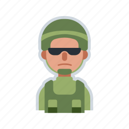 army, avatar, character, military, soldier icon