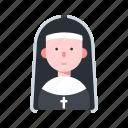 avatar, catholic, character, nun, religion