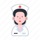 avatar, character, female, healthcare, nurse icon
