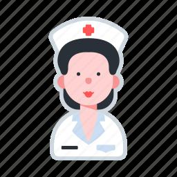 avatar, character, female, healthcare, nurse icon