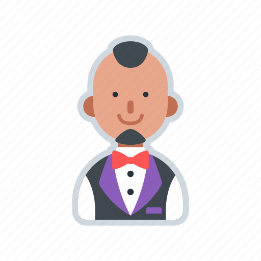 avatar, character, service, uniform, waiter icon