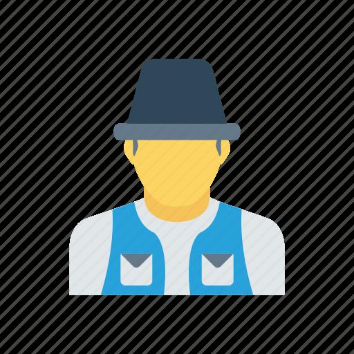 constructionworker, man, professional, worker icon