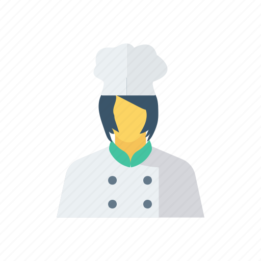 cook, female, femalechef, restaurantservant icon