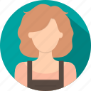 dress, fashion, lady, person, profile, user, women icon