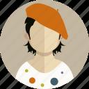 clothing, dress, female, human, lady, man, profile icon