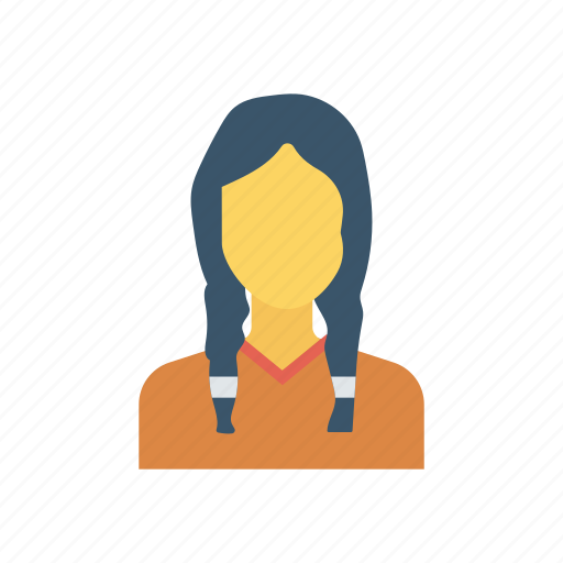 Face, girl, hair, student icon - Download on Iconfinder
