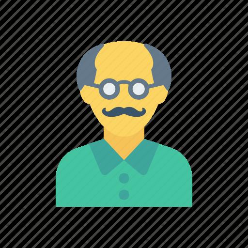 avatar, grandfather, oldman, stick icon