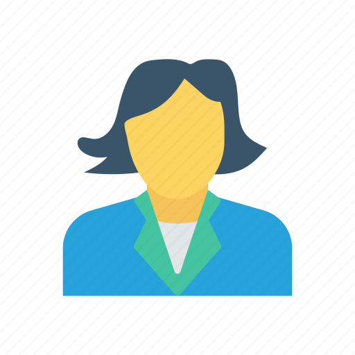 avatar, lady, office, woman icon