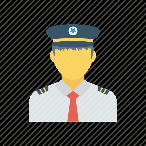 avatar, cap, pilot, worker icon