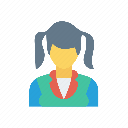 Girl, school, schoolgirl, student icon - Download on Iconfinder