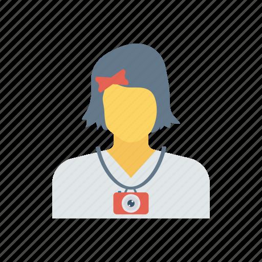 education, schoolgirl, student, youngergirl icon