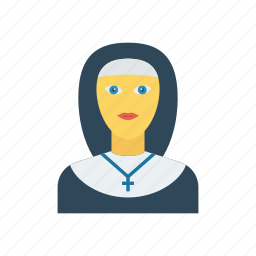 catholic, church, girl, sister icon