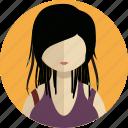 clothing, dress, fashion, female, lady, man, profile icon