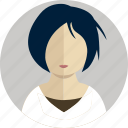 account, female, girl, hair, man, people, person icon