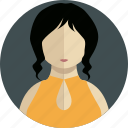 girl, hair, lady, man, people, person, profile icon