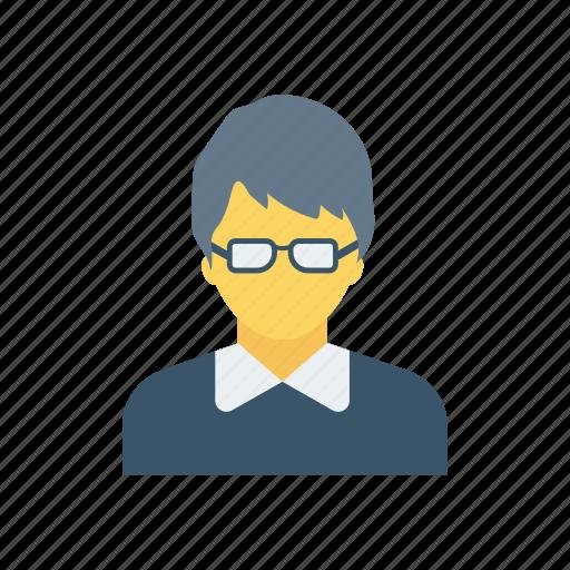 avatar, boy, male, student icon
