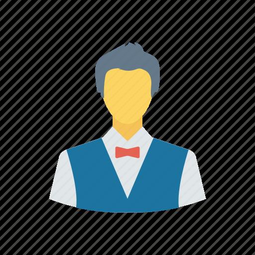 man, restaurant, suit, waiter icon