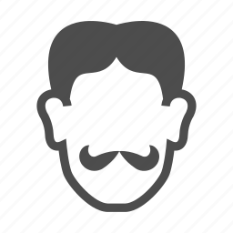 avatar, face, male avatar, moustache, people, person, user icon
