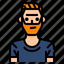 avatar, beard, hipster, men, profile, shirt, user