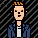 avatar, casual, male, man, men, profile, user icon