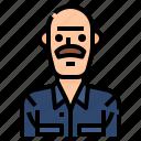 avatar, bald, man, men, mustache, profile, user icon