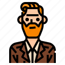 men, suit, beard, user, man, profile, avatar icon