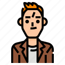 avatar, casual, man, men, profile, suit, user icon