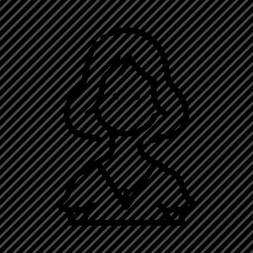 avatar, character, female, hair, profile, short, woman icon