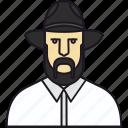 avatar, avatar man, cowboy, face, guy, hat, human, man, people, secretive, spy icon