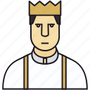 avatar, boss, bread, crown, guy, human, king, man, men, prince, royal icon
