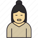 avatar, avatar girl, female, girl, house wife, human, lady, old lady, people, person, woman icon