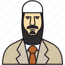 bread, human, man, muslim avatar, muslim man, muslima, people, person, vatar icon