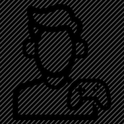 avatar, gamer, job, kid, man, player, profession icon