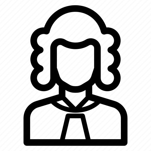 avatar, counsellor, job, judge, lawyer, profession icon