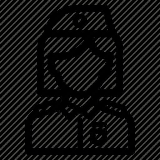 avatar, job, military, officer, profession, woman icon