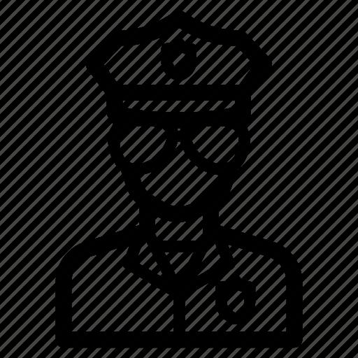 avatar, cop, job, officer, police, profession icon