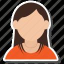 face, girl, hair, woman icon