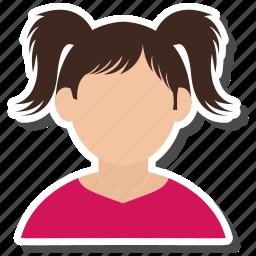 avatar, teenager, user, woman icon