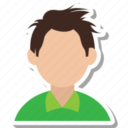 adam, avatar, blonde, boy, confused icon