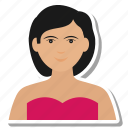 female, girl, profile, user, wife, woman icon