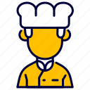avatar, chef, cook, cooker, cooking, man, restaurant icon